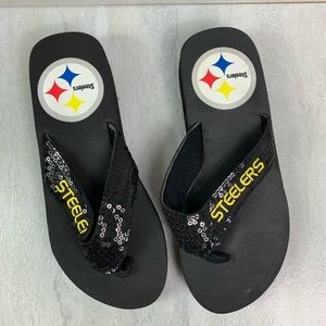 Pittsburgh Steelers flip-flops women's 7/8